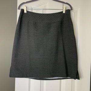 Amanda Smith A-Line Mini Skirt 12 Size Gray